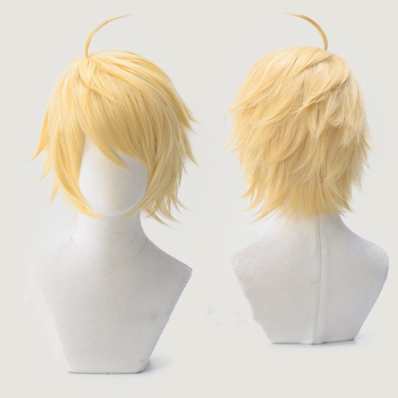 Halloween Fate/Prototype Grand Order Arthur Pendragon Golden Wig Cosplay Hair Saber