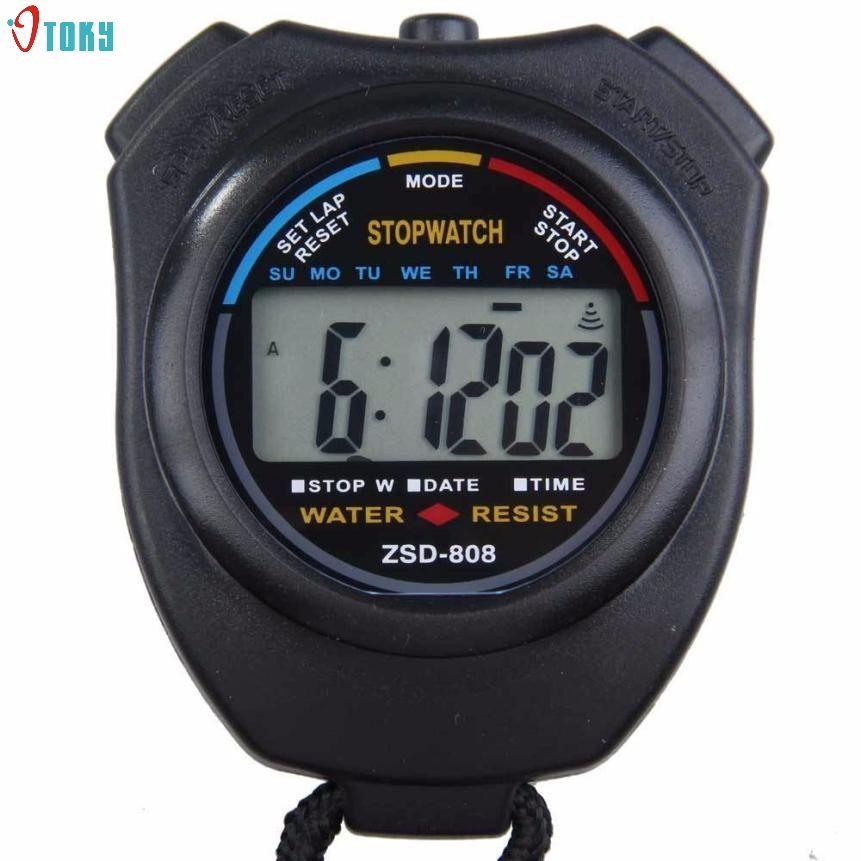 2017 würde Digital Professionelle Handheld LCD Chronograph Sport Stoppuhr Stoppuhren AP 29