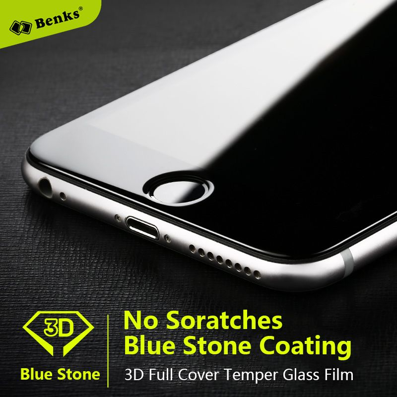 Benks Sapphire Coating Tempered Glass Screen Protector For Iphone 6 Iphone 6Plus Iphone 6S No Scratch 3D Full Cover Glass Film