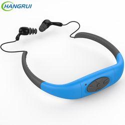HANGRUI IPX8 Waterproof Sports Neckband Earphone Wireless Diving Headphone 8GB 4GB MP3 Players Headsets For Swimming Underwater