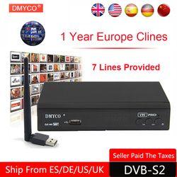 1 Año Europa Servidor Cccam HD V8 Súper DVB-S2 Satélite receptor Lleno 1080 P Italia España Árabe Cline Con USB Wifi Cccam