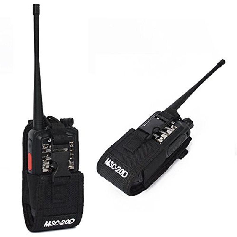 MSC-20D Nylon Multi-Fonction Universal Pouch Sac Holster Carry Case pour BaoFeng UV-5R Série BF-888S TYT Mototrola Talkie Walkie