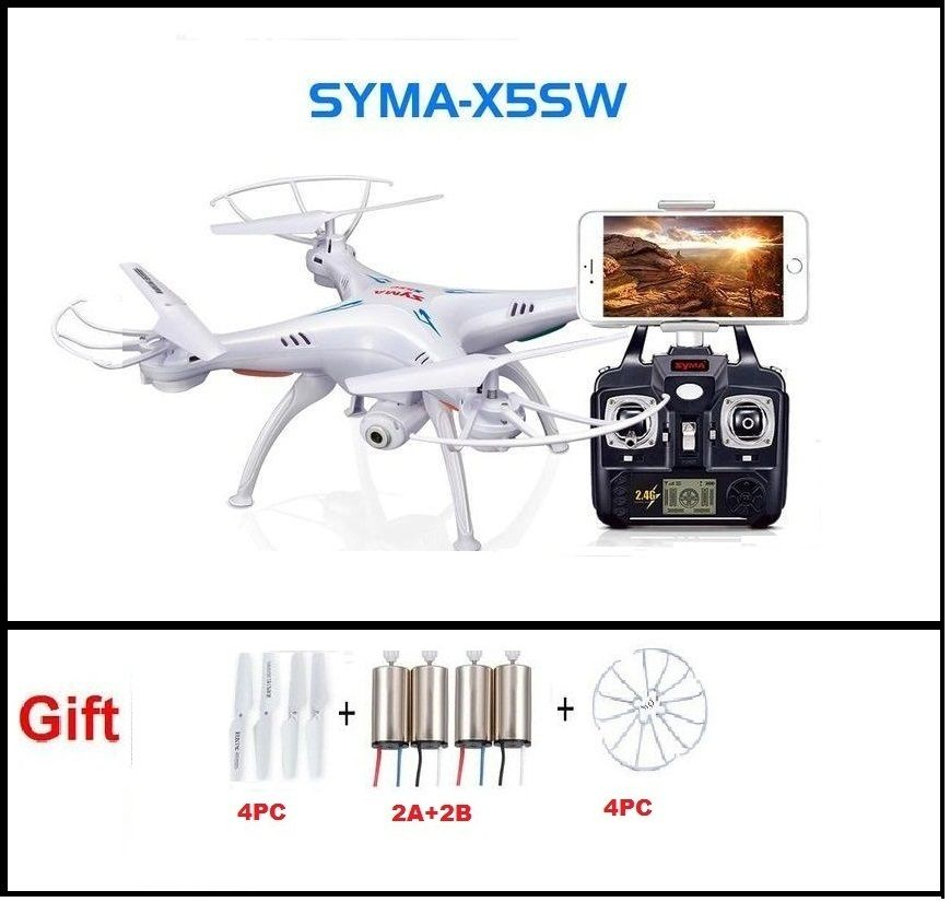 SYMA X5SW FPV RC Quadcopter Drone with WIFI Camera hd 2.4G 6-Axis Dron RC Helicopter Toys With Full Capacity 1 Battery VS H8C