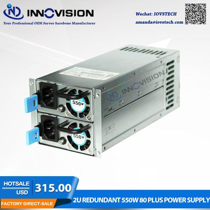 High-effizienz gespeichert energie 2U redundante 550 watt 80 plus netzteil for2U/3U Server chassis