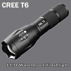 cree xm-t6 LED Flashlight 8200lumen zoomable led torch for 18650/AAA black Waterproof linterna led flashlights for Camping ZK95