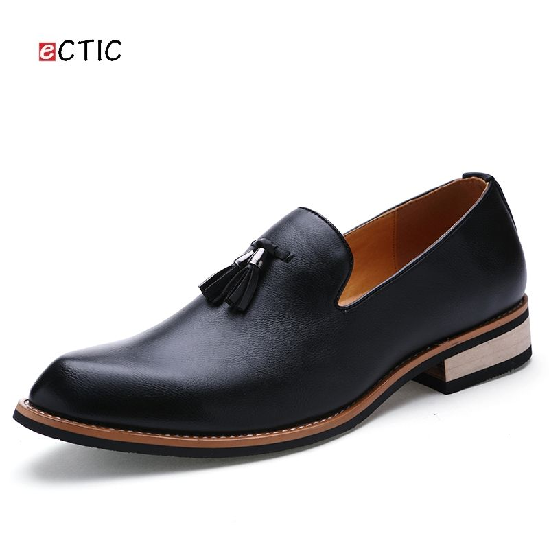 Luxury Delicate Italian Mens Penny Loafer Shoes Classic Elegant Formal Derby Dress Calcado Masculino Handsome