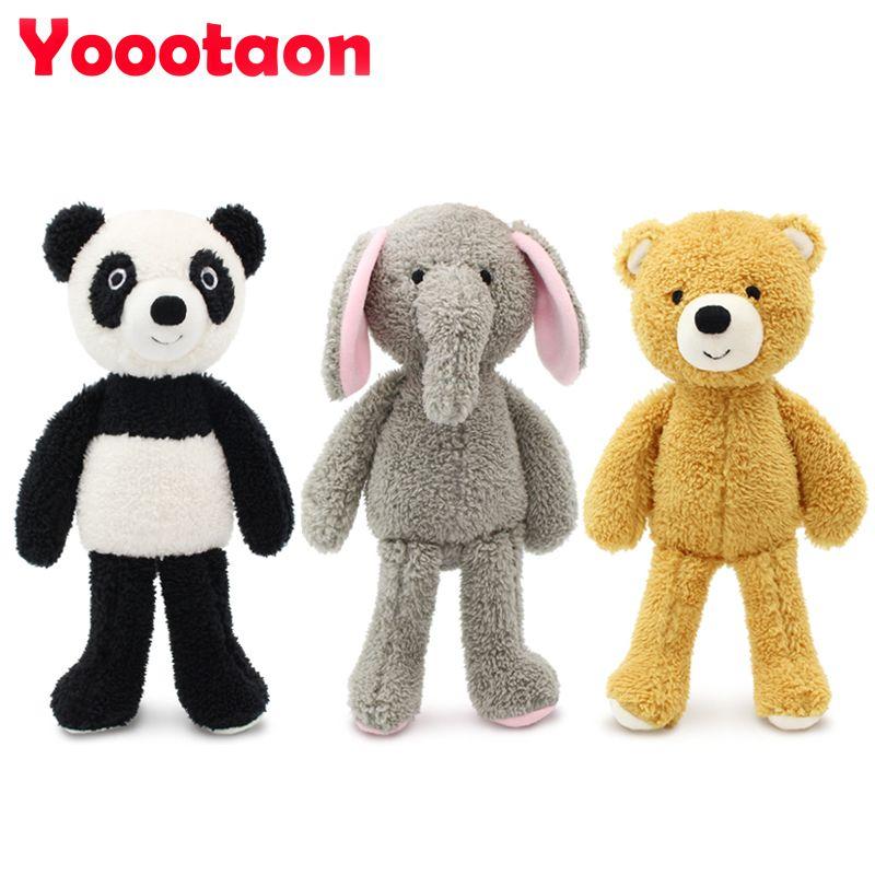 YOOOTAON kawaii animal en peluche poupées en peluche enfants jouets pour enfants filles/garçons brinquedos en peluche bébé jouet en peluche ours/ éléphant/panda