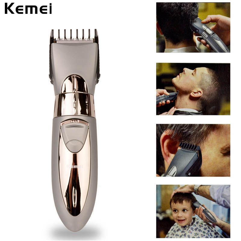 New Rechargeable Waterproof Hair Clipper Beard Electric Hair Trimmer Shaver <font><b>Body</b></font> Hair Mustache Shaving Trimmer Haircut 55
