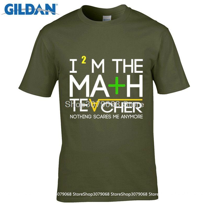 GILDAN t shirt design patternNew Cotton T Shirt   Math Teacher Quote Crew Neck Comfort Soft Short Sleeve Shirt