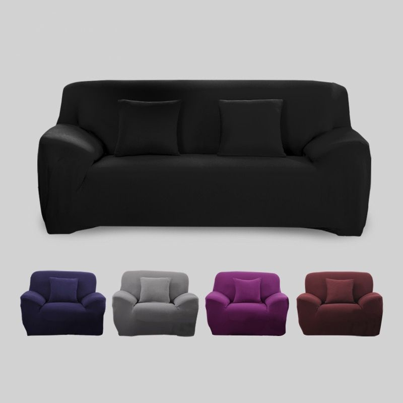Sofa Cover Big Elasticity 100% Polyester Spandex Stretch Couch Cover Loveseat Sofa Towel Furniture Cover <font><b>Machine</b></font> Wash