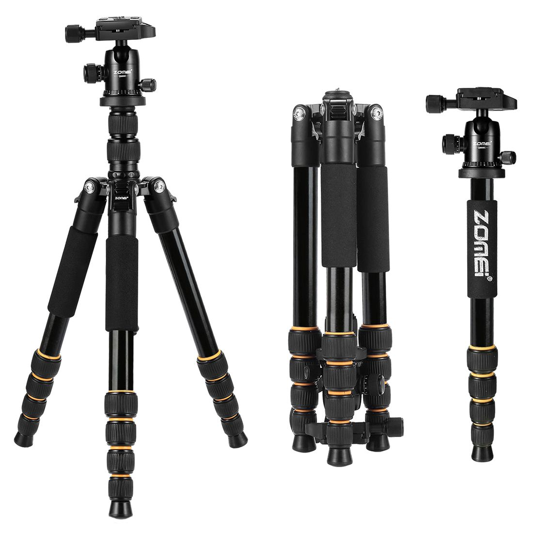 ZOMEi Q666 Professional Travel Camera Tripod Monopod aluminum Ball Head compact for digital SLR DSLR camera