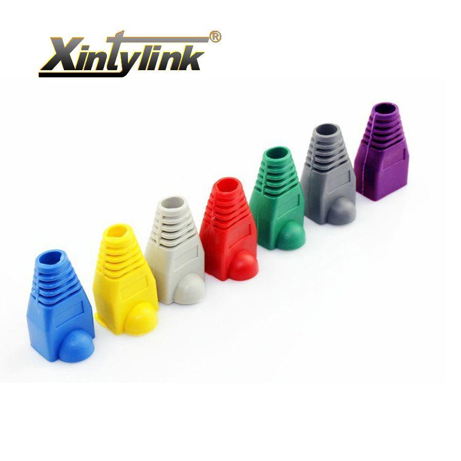 Xintylink rj45 caps connecteur gaine cat5 cat5e cat6 multicolore tpu bottes manchon de protection réseau connecteurs ethernet pièces