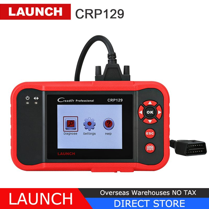 Launch X431 Creader CRP129 OBD2 Car Scanner OBDII Diagnostic Tool Auto Code Reader Engine ABS SRS Brake Oil Reset Diagnostics