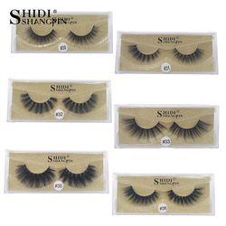 SHIDISHANGPIN 1 pair 3d mink lashes false eyelashes 3d mink eyelashes natural long eyelashes hand made makeup full strip lashes