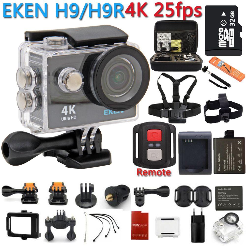 Action Camera 100% Original eken H9R / H9 4K WiFi Action Sport Camera Helmet Video Cam Underwater waterproof Sport Camera