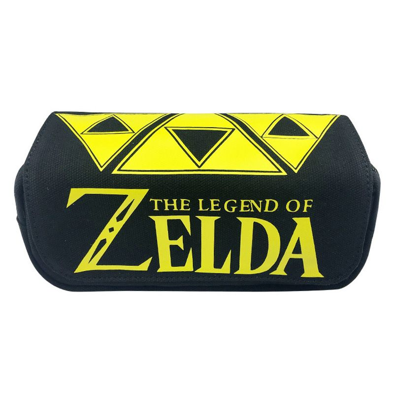 Game The Legend of Zelda OW Undertale Children Teenager Student Canvas Pencil Case Box Pen Bag Cosmetic Makeup Change Purse Bag