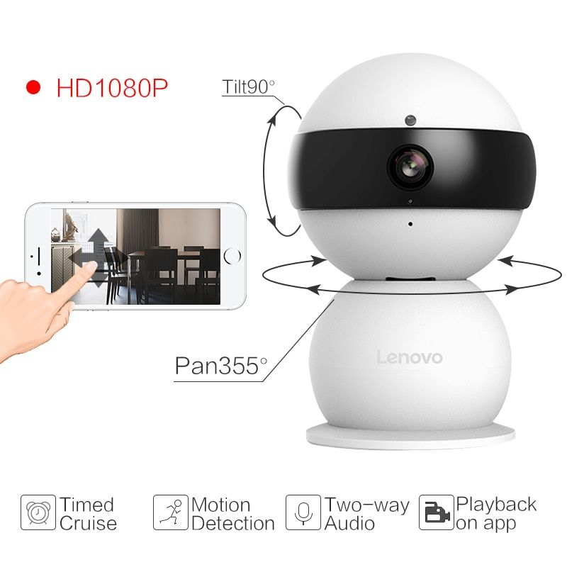 Lenovo Snowman XR WiFi Smarts IP Camera cctv security Wireless ultra-clear 1080P Video Surveillance Camera remote pan tilt