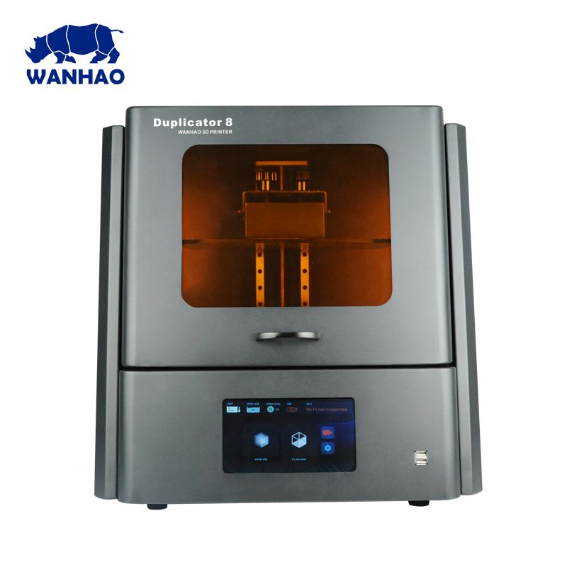 2018 WANHAO biggest cheap DLP LCD SLA Resin Jewelry Dental 3D Printer D8 with 500ml resin and free shipping cost