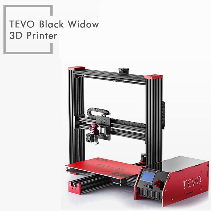 TEVO Black Widow LCD 3D Printer Kit DIY Full Aluminum Large Printing Area 370 x 250 x 300mm OpenBuild Aluminium Extrusion Gift
