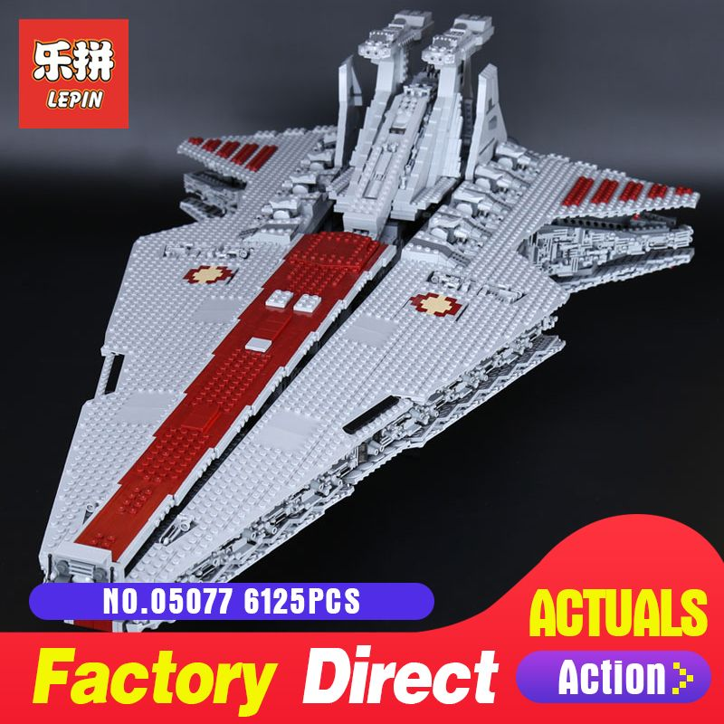 Star Destroyer 6125Pcs Lepin 05077 Classic UCS ST04 Republic Cruiser funny Building Blocks Bricks Toys Model Gift Wars