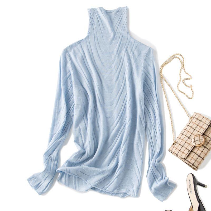 Solide elastische stricken rollkragenpullover 2018 neue lange hülse frauen herbst dünne grundlegende pullover shirts