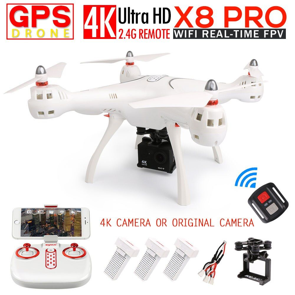SYMA X8 PRO GPS RC Quadcopter FPV RC Drone with 720p Camera OR H9R 4k/1080p WIFI Camera 2.4G 6-Axis VS X8PRO RC Helicopter