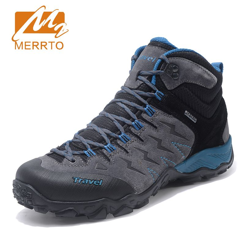 Merrto New Trend Autumn Winter mountain trekking hiking shoes men waterproof Breathable Hunting sneakers for men MT18683