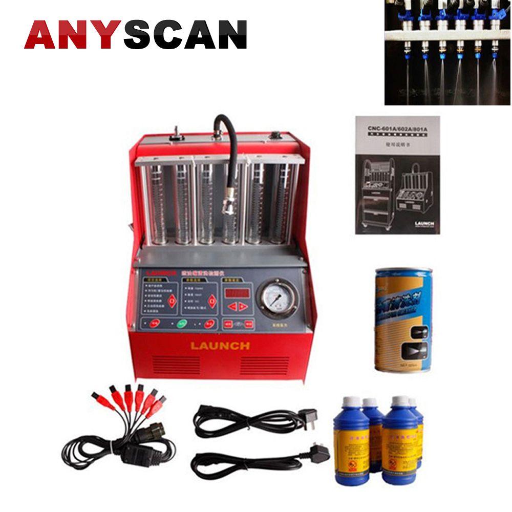 Starten CNC 602A Injektor Reiniger Tester kraftstoff injektor reinigung maschine mit Englisch Panel Waschen Werkzeug Auto waschen und wartung