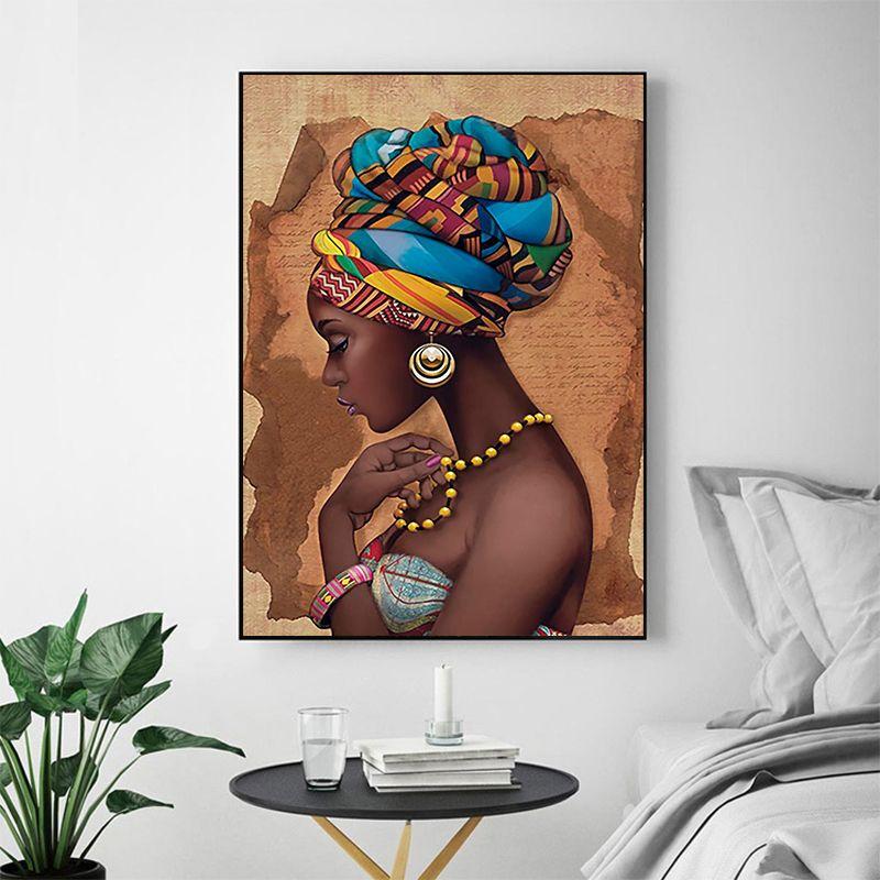 MUTU peinture pas de cadre Art mural africain peintures simples pour salon mur toile moderne cheval de haute qualité affiche et impressions