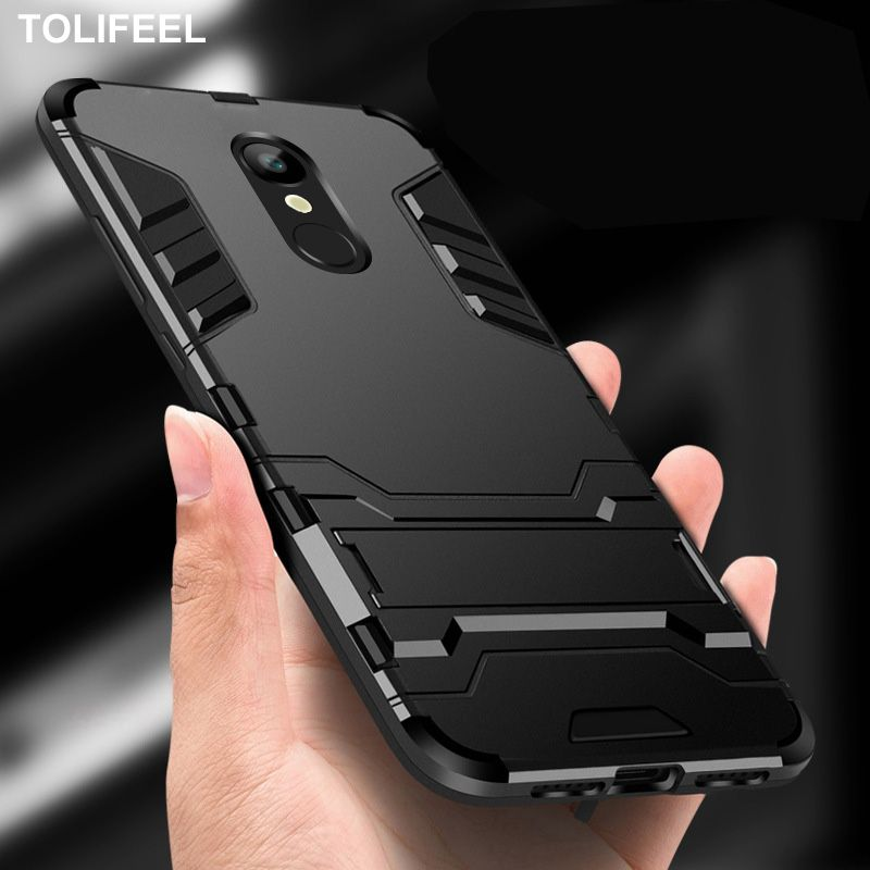 TOLIFEEL For Xiaomi Redmi 5 Plus Case Silicone Cover Anti-Knock Hard Plastic Robot Armor Slim Back Cases For Xiaomi Redmi 5 Capa