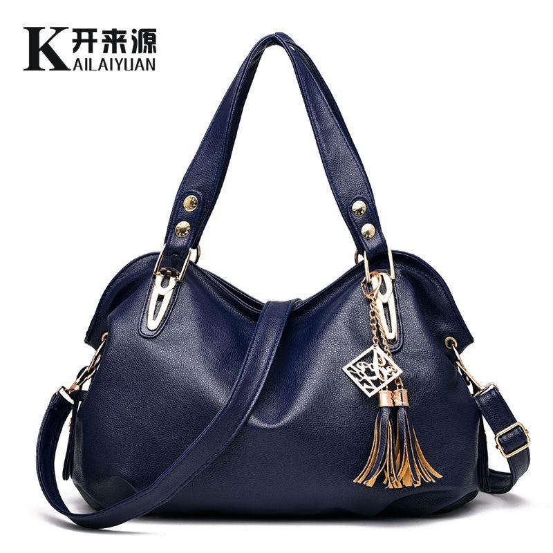 KLY 100% Genuine leather Women handbags 2018 New bag ladies classic casual fashion bag Crossbody Bag female hand bill of lading
