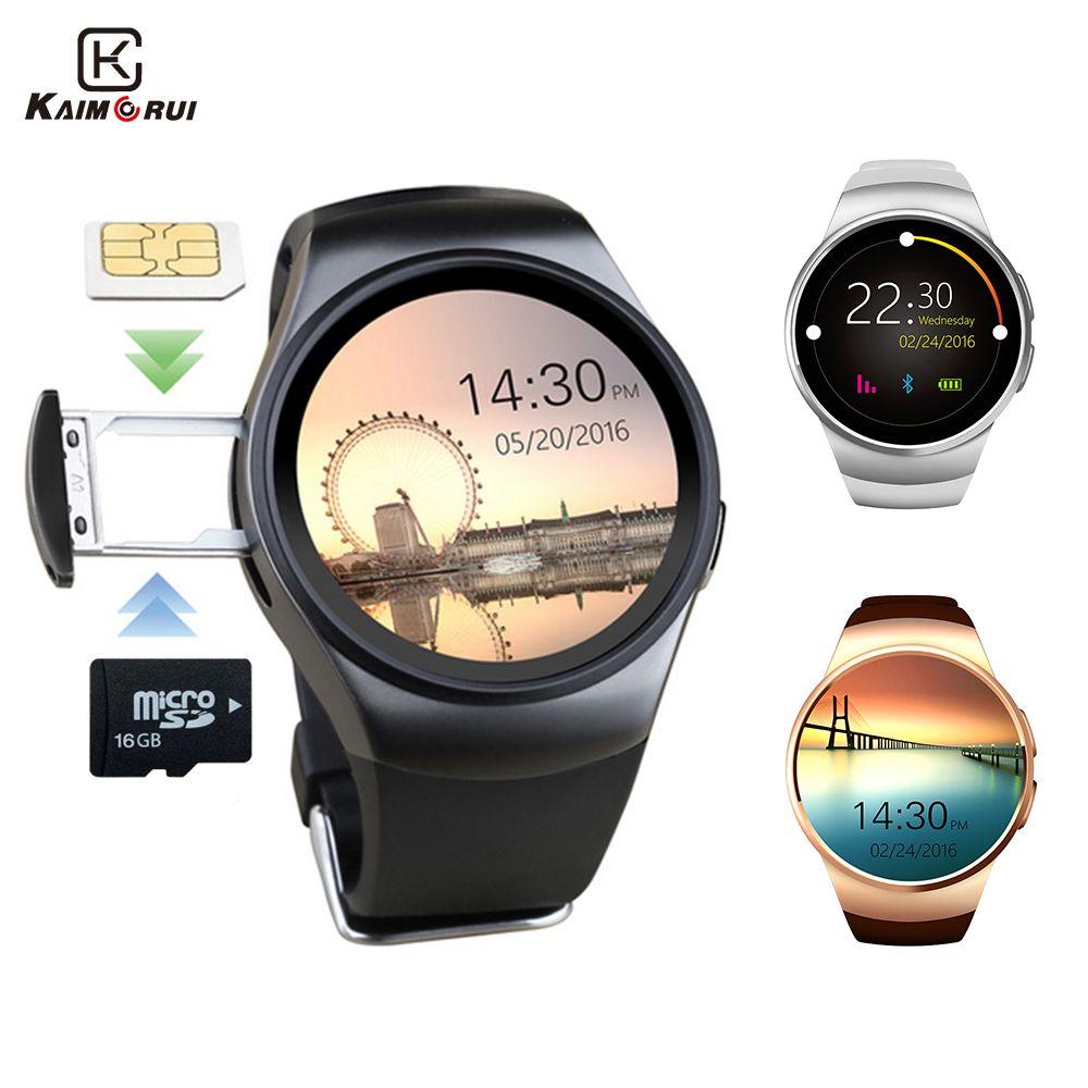 Kaimorui KW18 Bluetooth Montre Smart Watch Soutien Carte SIM D'origine Hommes D'affaires SmartWatch avec Coeur Taux Pour Android IOS Téléphone