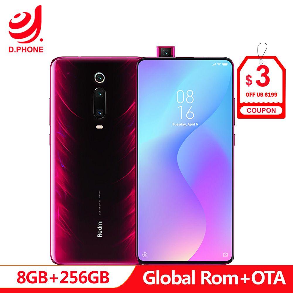 Globale Rom Xiaomi Redmi K20 Pro 8 GB 256 GB Snapdragon 855 Octa Core 4000 mAh Pop-up Vorne kamera 48MP Hinten Kamera Smartphone