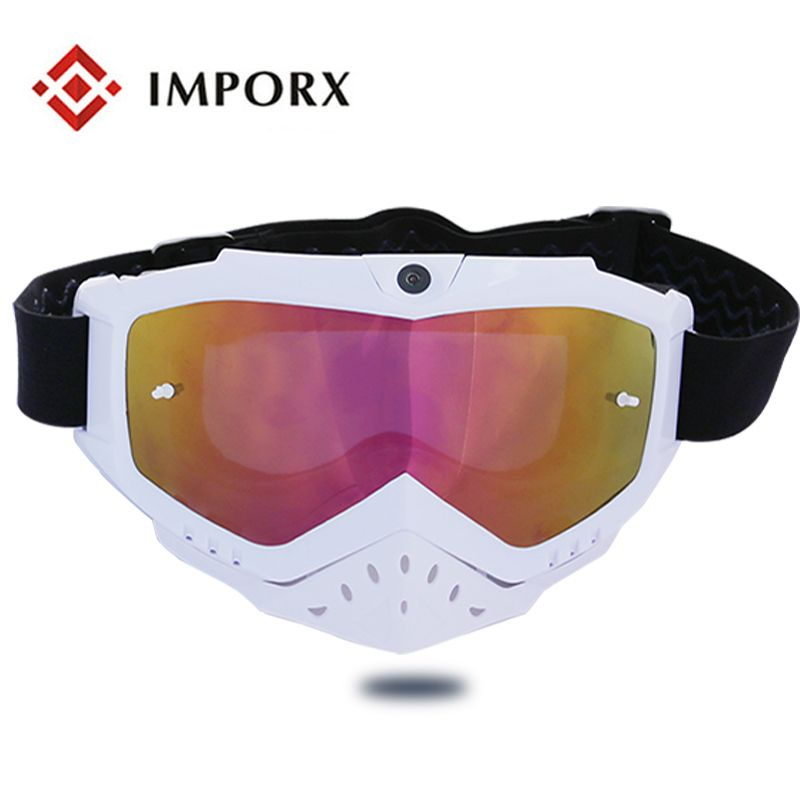 TPU Frame Material and motor cross goggle Usage motocross goggles Sunglasses Camera Video Recorder Sport Sunglasses Camcorder