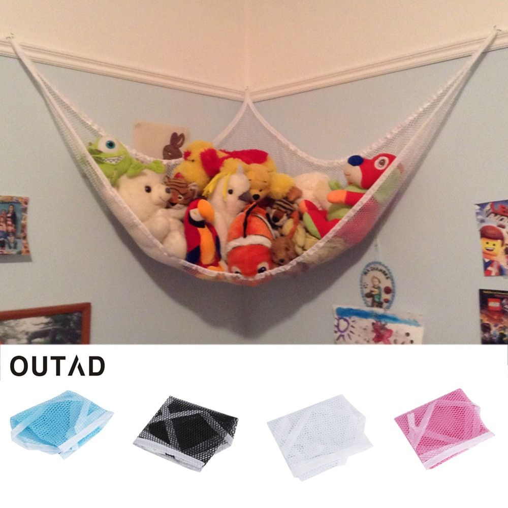 OUTAD HChildren Room Toys Stuffed Corner Animals Storage Pet Plush Toys Hammock Net Storage Holder Organizer