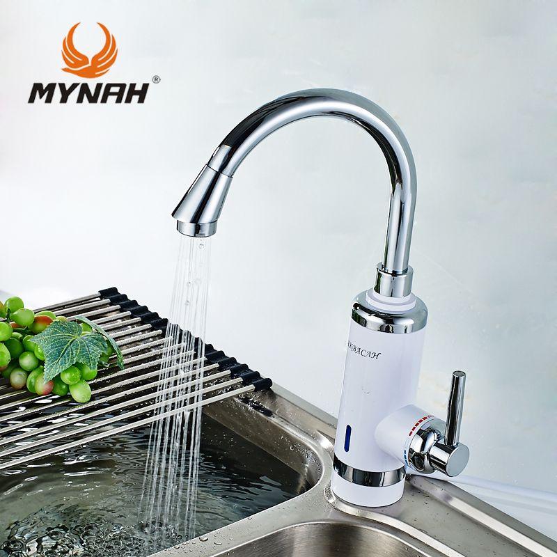 России Бесплатная доставка Высокое качество Кухня кран Электрический проточный водонагреватель Горячая вода кран ЕС Plug