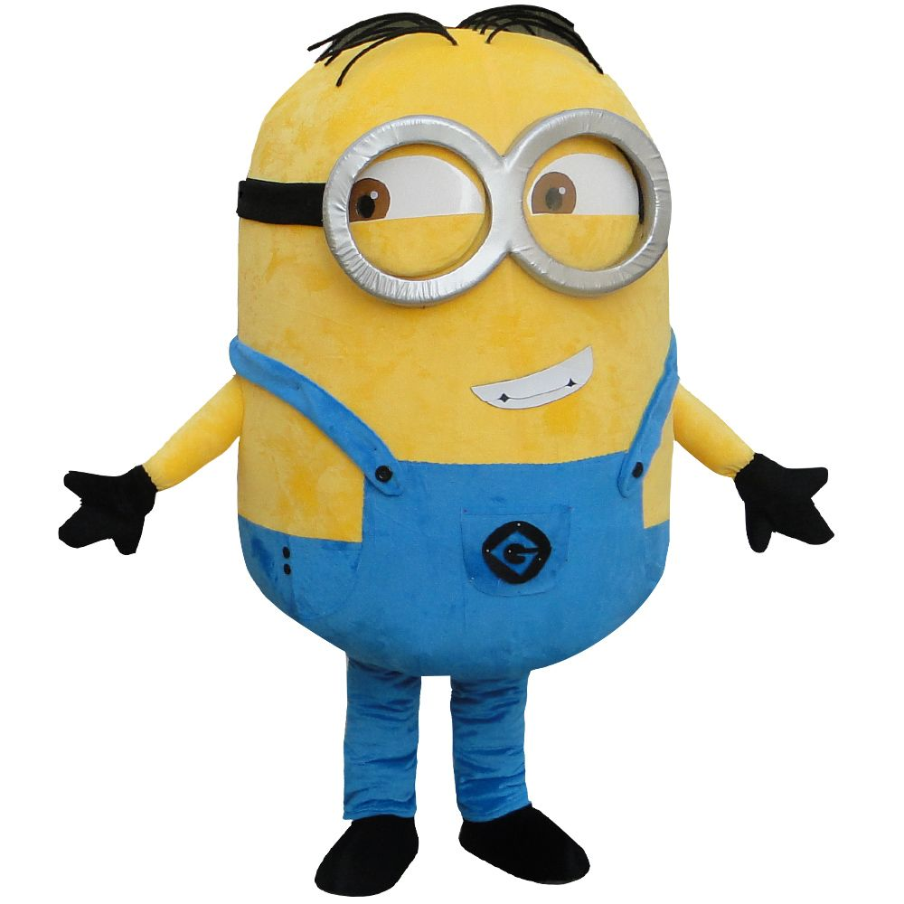 on sale! free shipping, cosplay costumes Despicable minion mascot costume for adults despicable mascot costume