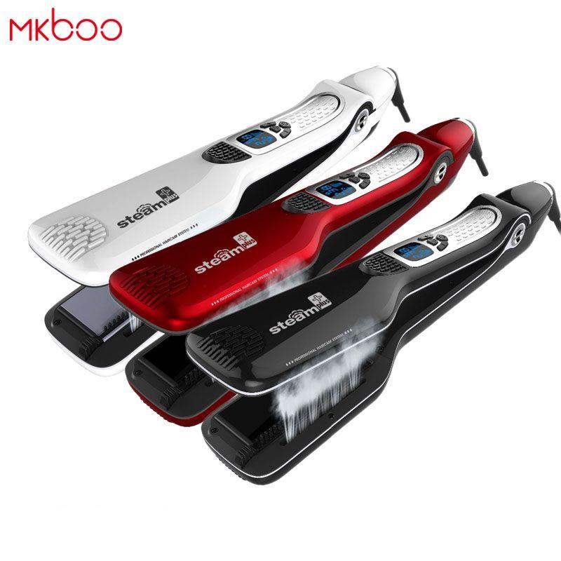 MKBOO Hair Straightener iron Hair Flat Iron Professional Steampod Hair Straightener Electric Steam Hair Straightener