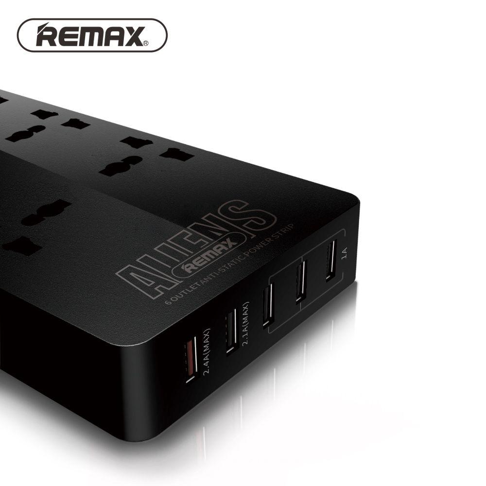 Remax RU-S4 Intelligente 6 Outlets Plug 5 Usb-anschluss Ladebuchse Adapter 4.2A Elektrische Steckdosenleiste Steckdose