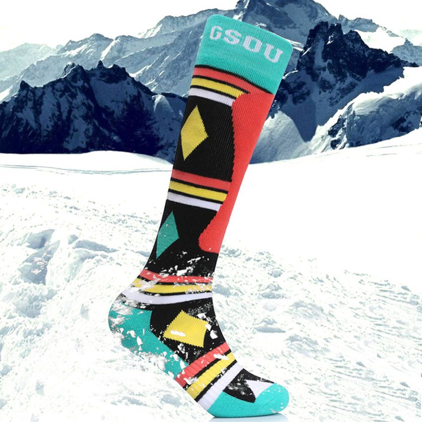 New Men's Women Winter Ski Stockings Socks Outdoor Thermal Sports Hiking Camping Trekking Snowboard Skiing Cycling Socks MI011