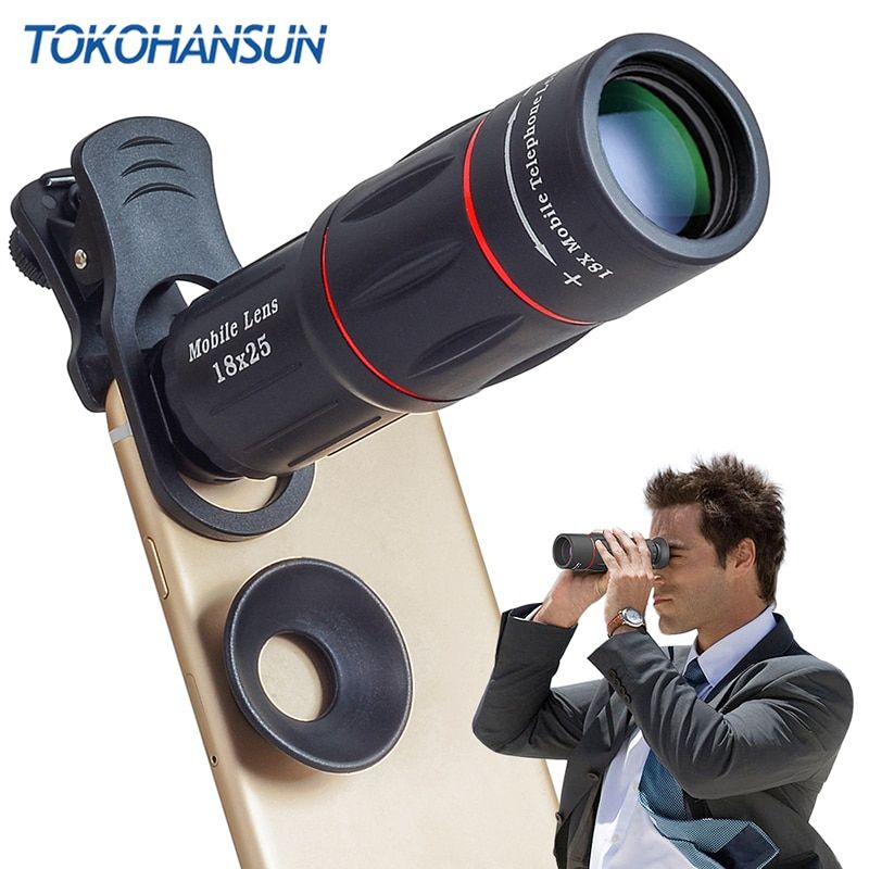 TOKOHANSUN Telefon Camera Lens universal 18X Télescope Zoom télescope Mobile Téléphone Objectif pour iPhone Xiaomi Honneur Smartphones