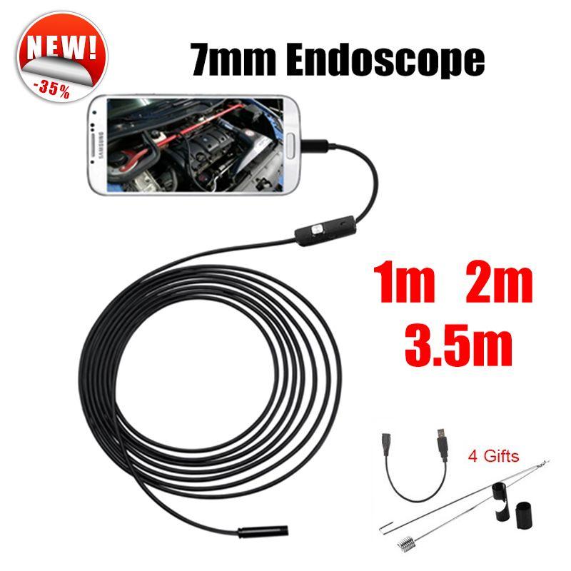 Antscope Endoscope 7mm Mini USB Android Endoscope Caméra 1 M 2 M 3.5 M De Voiture D'inspection de Serpent Tube MicroUSB Endoskop Caméra