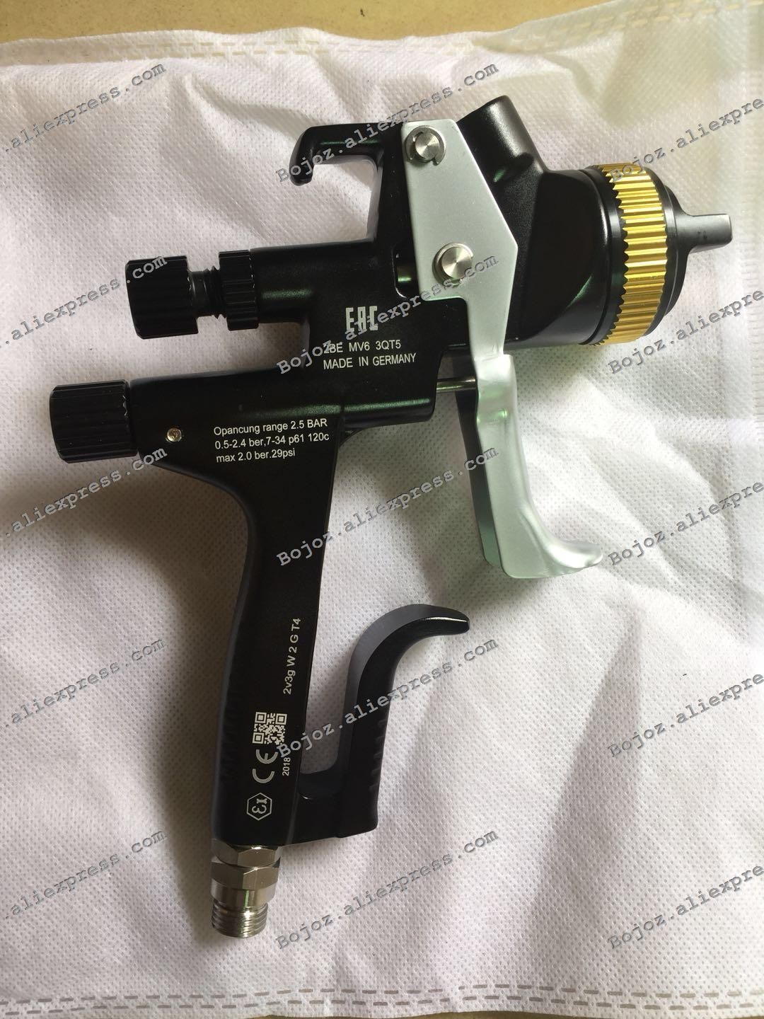 EAC Black Limited Edition 5000B HVLP PHASER Spray Gun-1.3 Noz w/t cup for Car,Porsche Design Painted Sprayer gun