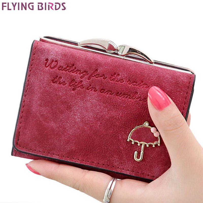 Flying birds! femmes Portefeuilles court dollar prix Portefeuille En Cuir Embrayage sac à main en cuir femmes sacs de haute qualité carte de crédit LM3217fb