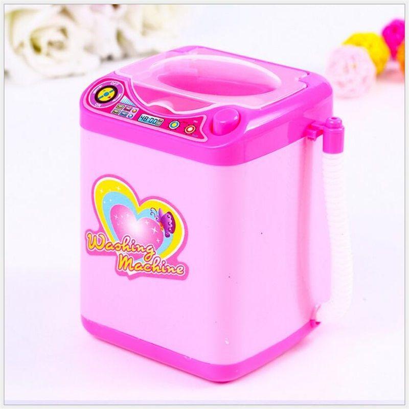Mini brosse de maquillage nettoyage électrique rose machine à laver jouets semblant jouer enfants jouets enfants meubles jouets enfants jour cadeau