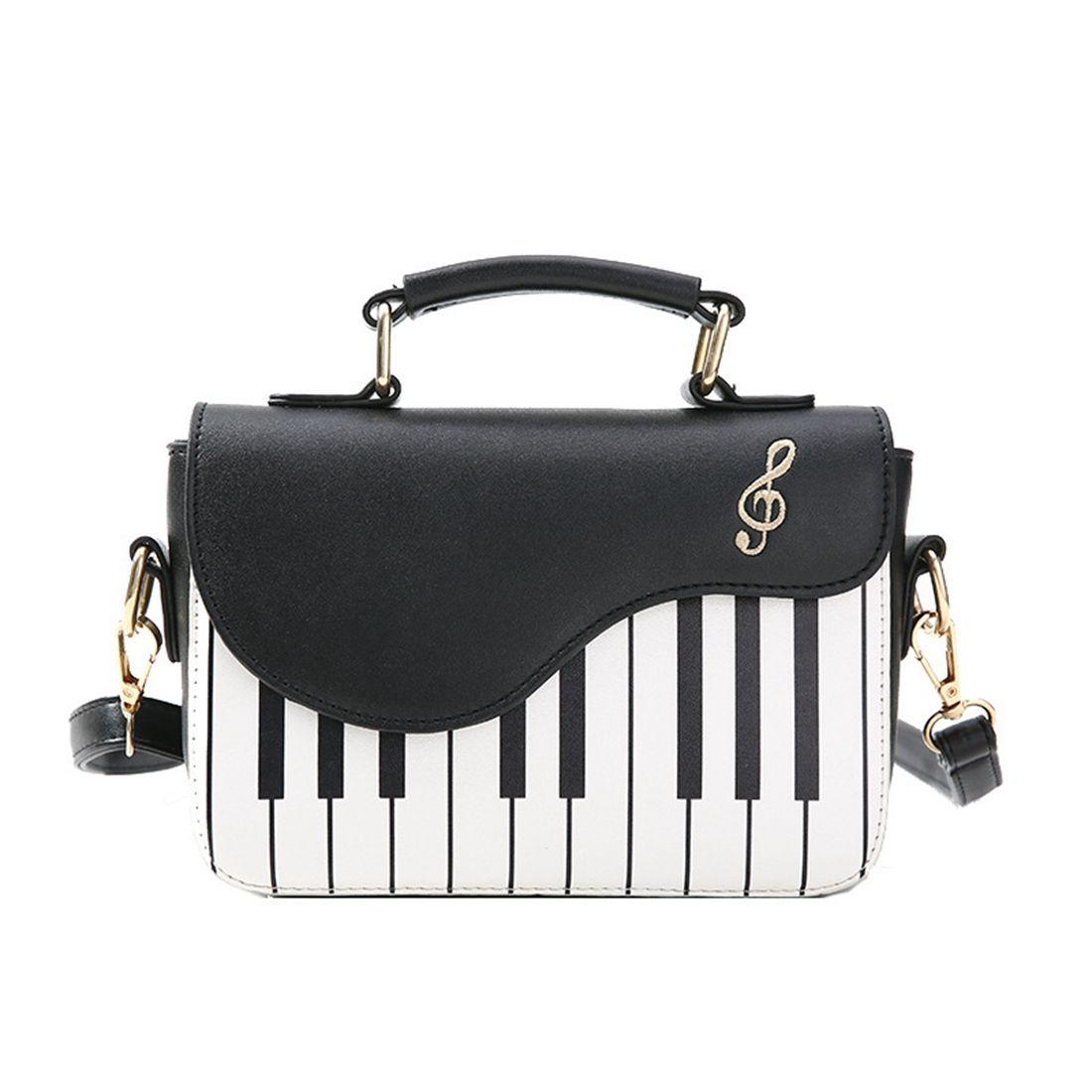 Nouveau hit de la mode couleur piano impression sac à main doux vent frais épaule diagonale portable petit paquet