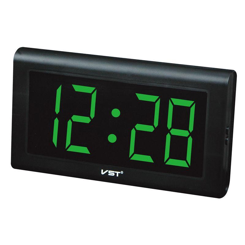 2017 24 heures nouvelle horloge de Table moderne, horloge mur LED, grands nombres horloges numériques grand affichage avec prise ue/US