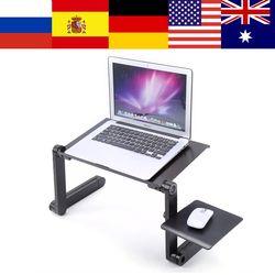 Portátil portátil ajustable soporte de mesa Lap sofá cama bandeja ordenador portátil escritorio cama con Mouse Pad