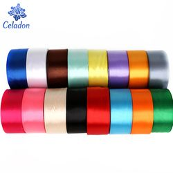 25 Yards Mix Colors Silk Satin Organza Polyester Ribbon Handmade Christmas Decoration Webbing Gift For Sewing Wedding Party