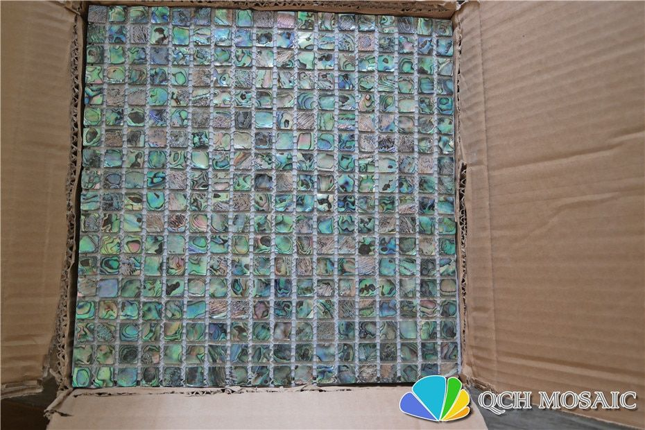 New zealand abalone paua shell mother of pearl mosaic tile for kitchen backsplash and bathroom 5 square feet/lot natural color